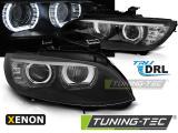 Přední světla BMW E92/E93 06-10 Angel Eyes led černá AFS