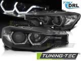 Přední světla BMW F30/F31 10/11 - 05/15 Angel Eyes led DRL černá