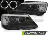 Přední světla BMW X3 F25 10/07/14 Angel Eyes led černá