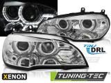 Přední světla BMW X5 E70 07-10 Angel Eyes led DRL chrom xenon