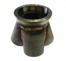 Nerezový kolektor ProRacing na výrobu svodů 4-1 - příruba v-band 76mm - průměr 48mm