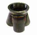 Nerezový kolektor ProRacing na výrobu svodů 4-1 - příruba v-band 63,5mm - průměr 48mm