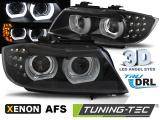 Přední světla BMW E90/E91 09-11 led DRL černá  AFS xenon