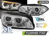 Přední světla BMW F10/F11 10-13 Angel Eyes led DRL chrom SEQ xenon
