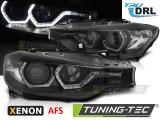 Přední světla BMW F30/F31 10/11-05/15 Angel Eyes led DRL černá AFS xenon