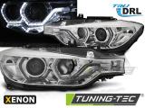 Přední světla BMW F30/F31 10/11-05/15 Angel Eyes led DRL chrom xenon