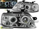 Přední světla Chevrolet Aveo 03-06 Angel Eyes chrom
