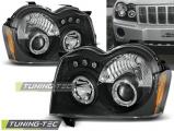 Přední světla Chrysler Jeep Grand CHerokee 05-08 Angel Eyes černá