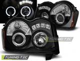 Přední světla Chrysler Jeep Grand CHerokee 08-10 Angel Eyes černá