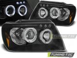 Přední světla Chrysler Jeep Grand CHerokee 99-05/05 Angel Eyes černá