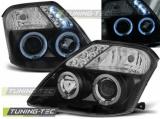 Přední světla Citroen C2 09/03-10 Angel Eyes černá