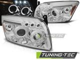 Přední světla Dodge Caliber 06-12 Angel Eyes chrom