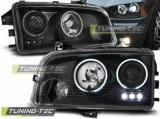 Přední světla Dodge Charger LX 06-10 Angel Eyes CCFLčerná