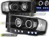 Přední světla Dodge Ram 02-06 Angel Eyes černá