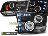 Přední světla Dodge Ram 09-18 Angel Eyes černá