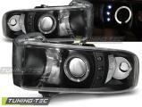Přední světla Dodge Ram 94-01 Angel Eyes černá