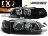Přední světla Fiat Punto 1 11,93-09,99 Angel Eyes černá