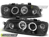 Přední světla Fiat Punto 2 10/99-06/03 Angel Eyes černá