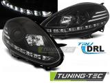 Přední světla Fiat Punto Evo 10/09-12 černá led DRL
