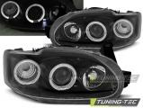 Přední světla Ford Escort MK7 02/95-00 Angel Eyes černá