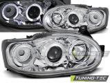 Přední světla Ford Escort MK7 02/95-00 Angel Eyes chrome