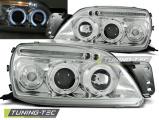 Přední světla Ford Fiesta MK5 09/99-04/02 Angel Eyes chrome