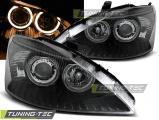 Přední světla Ford Focus 10/98-10/01 Angel Eyes černá