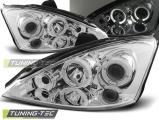 Přední světla Ford Focus 10/98-10/01 Angel Eyes chrome