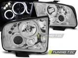 Přední světla Ford Mustang 04-09 Angel Eyes chrom