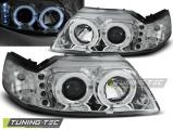 Přední světla Ford Mustang 98-04 Angel Eyes chrom