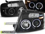Přední světla Ford F150 MK11 04-08 Angel Eyes černá