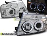 Přední světla Ford F150 MK11 04-08 Angel Eyes chrom