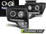 Přední světla Ford F150 MK12 08-14 Angel Eyes černá