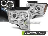 Přední světla Ford F150 MK12 08-14 Angel Eyes chrom
