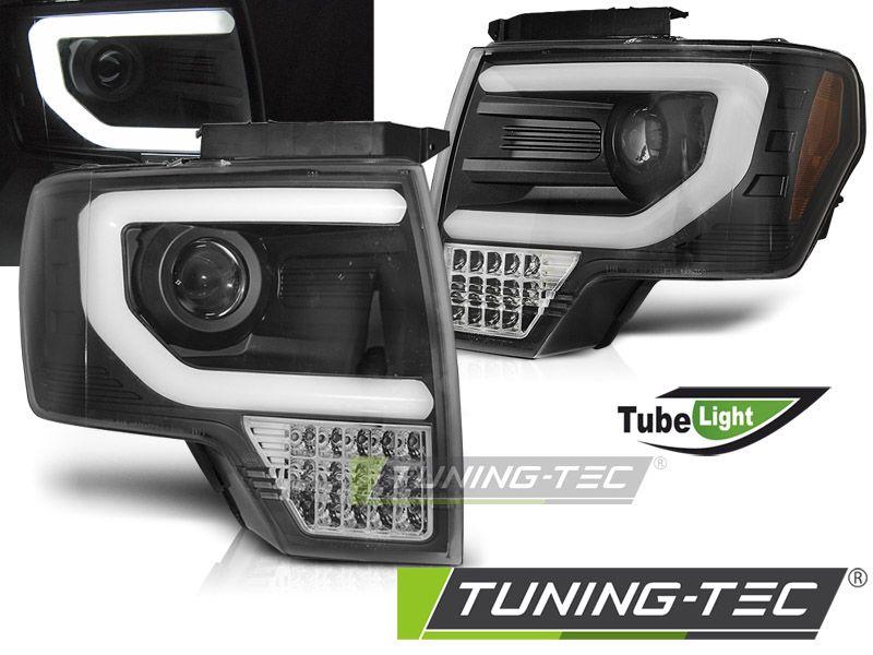 Přední světla Ford F150 MK12 08-14 černá TUNINGTEC