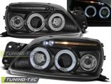 Přední světla Ford Fiesta MK5 09/99-04/02 Angel Eyes černá