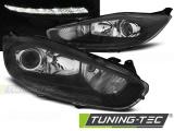 Přední světla Ford Fiesta MK7 13-16 led DRL černá