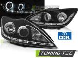 Přední světla Ford Focus II 02/08-10 Angel Eyes CCFL černá