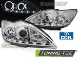 Přední světla Ford Focus II 02/08-10 Angel Eyes CCFL chrom