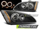 Přední světla Ford Focus II 09/04-01/08 Angel Eyes černá