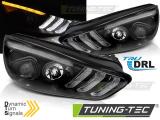 Přední světla Ford Focus MK3 15-18 černá DRL led SEQ