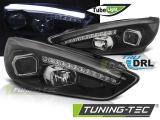 Přední světla Ford Focus MK3 15-18 černá DRL led