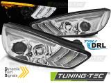 Přední světla Ford Focus MK3 15-18 chrom DRL led SEQ