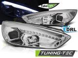 Přední světla Ford Focus MK3 15-18 chrom DRL led