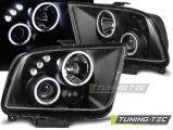 Přední světla Ford Mustang 04-09 Angel Eyes černá