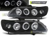 Přední světla Honda Accord 98-02 Angel Eyes černá (USA)