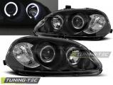 Přední světla Honda Civic 09/95-02/99 Angel Eyes černá