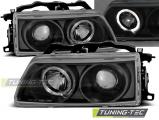 Přední světla Honda CRX 90-02,92 Angel Eyes černá
