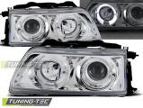 Přední světla Honda CRX 90-02/92 Angel Eyes chrom