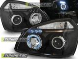 Přední světla Hyundai Tucson 07/04-10 Angel Eyes  černá